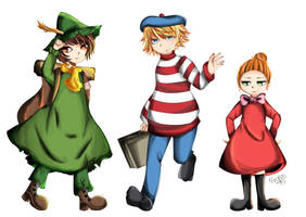 Snufkin Too-Ticky and Little My