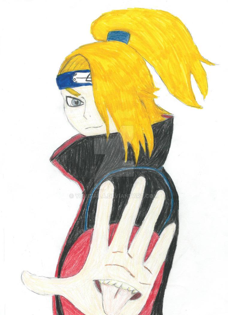 Deidara, Naruto Shippuden by yumisaila