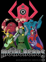 Marvel Villain Metalheads by Geuna