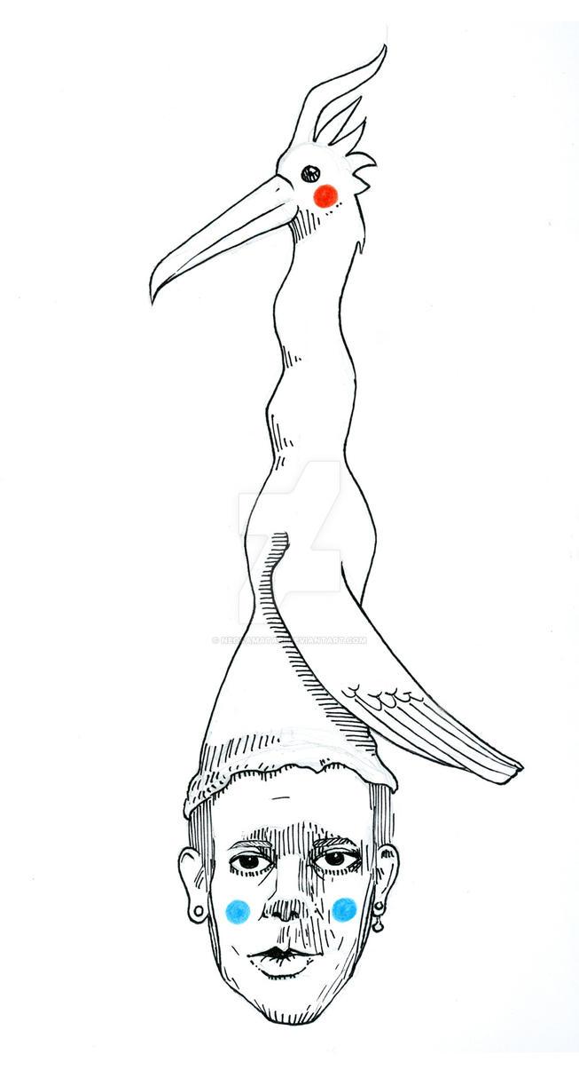Aquel que usaba un gran sombrero de ave by neokamatari