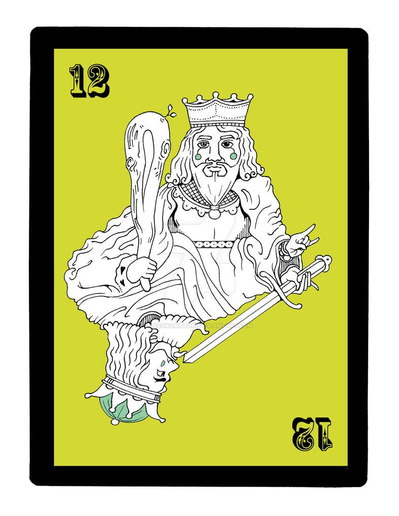 Deviantart coloring clubs - 12 King Of Clubs And King Lick By Neokamatari