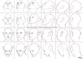 Angles of the Head by kurisutin