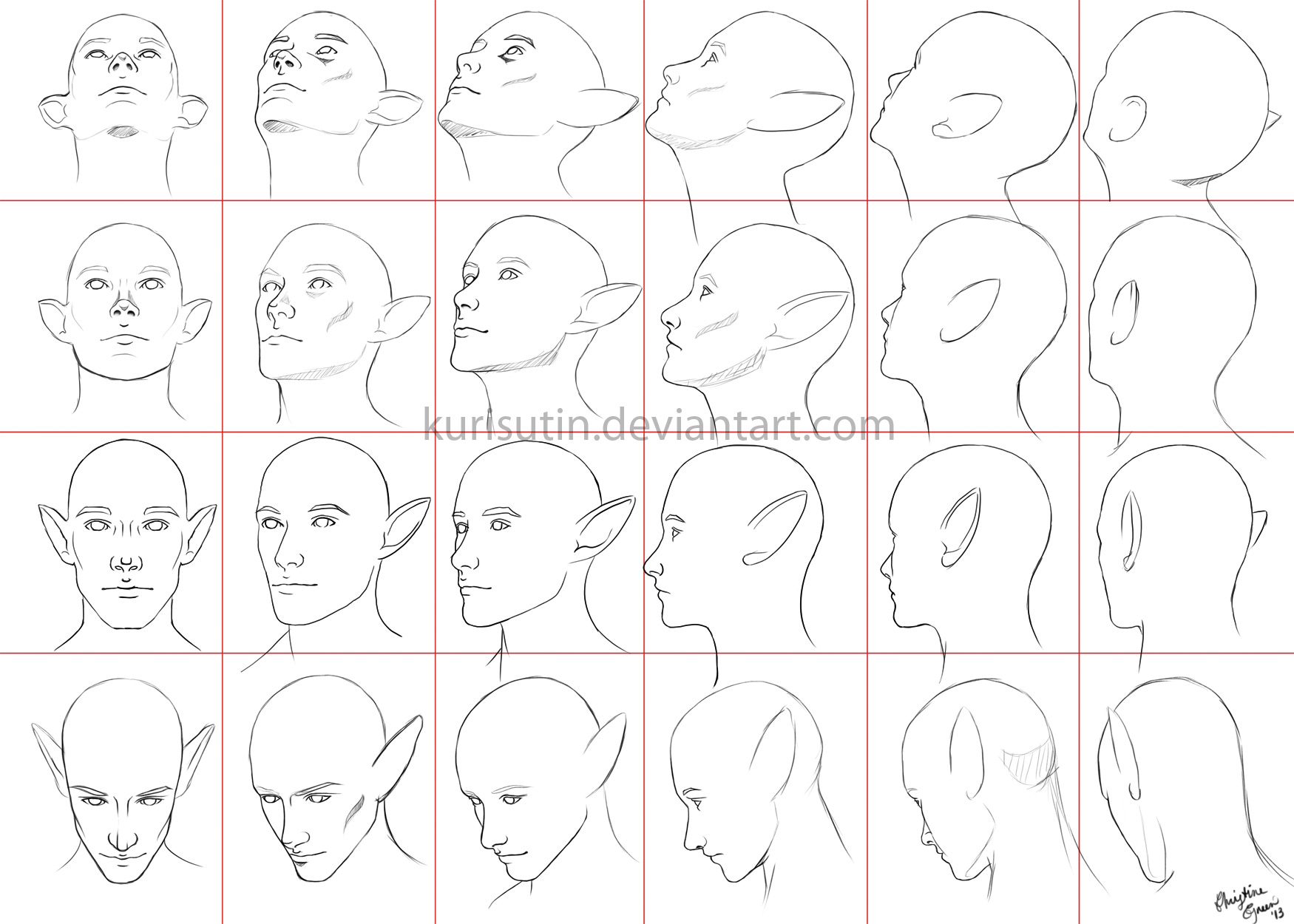 It is a picture of Crazy Looking Back Drawing Reference