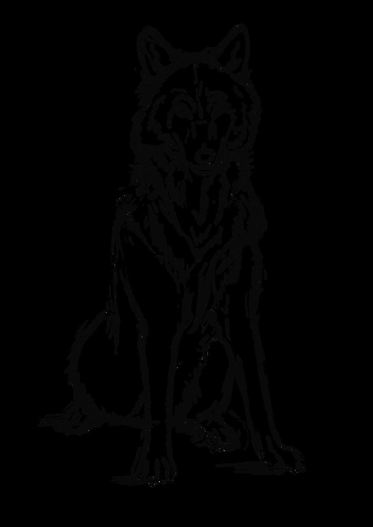 Wolf Line art #2 by SUNNYxAUTUMN