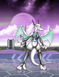 Spaced Out Dragon by Fairtravian