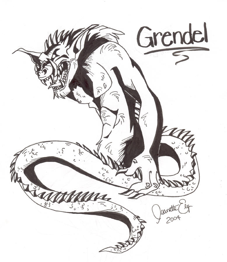 Grendel the monster in beowulf
