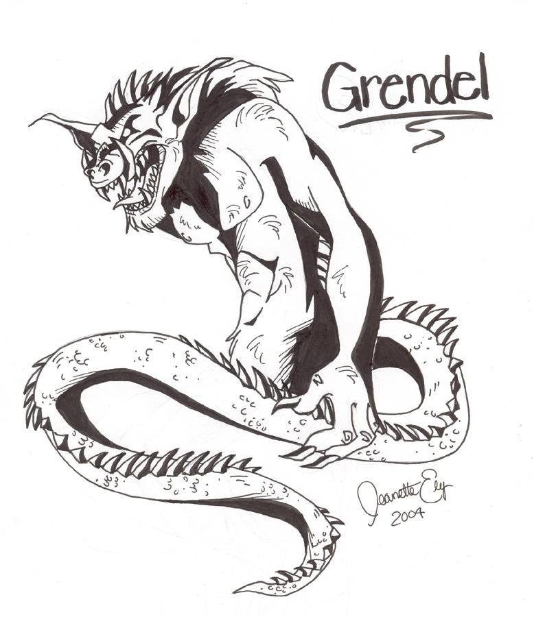 Photo Gallery | Monstrosity of Grendel |Beowulf Fighting Grendel Drawing