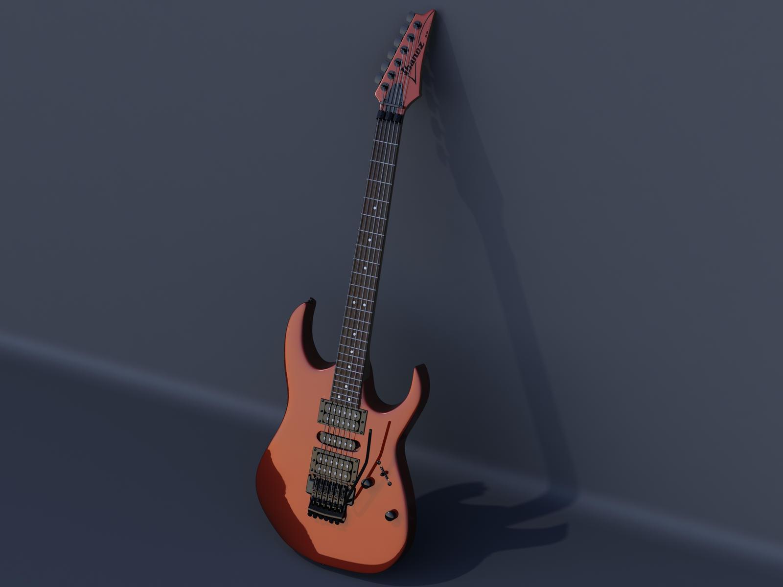 3d ibanez rg series guitar by goeol edhel on deviantart