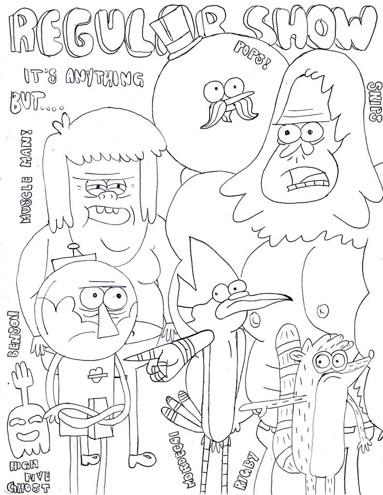 Printable coloring pages regular show - Regular Show By Soda Lime