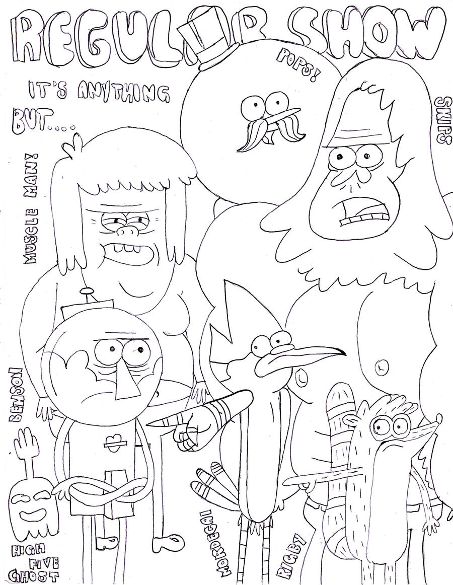 Adult Top Regular Show Coloring Pages Images beauty regular show pops coloring pages hicoloringpages gallery images