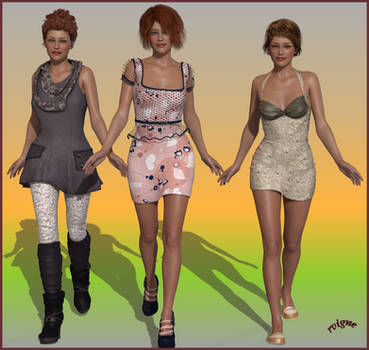 Three Genesis 2 Females Are Coming Back In Poser by Vigne33