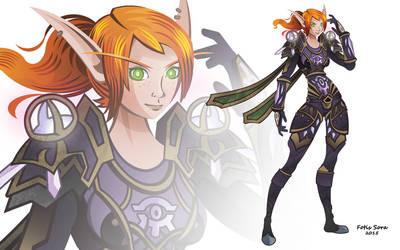 World of Warcraft - Blood elf Mage by fotis-sora