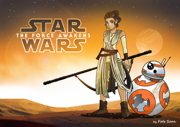 Rey - The Force Awakens by fotis-sora