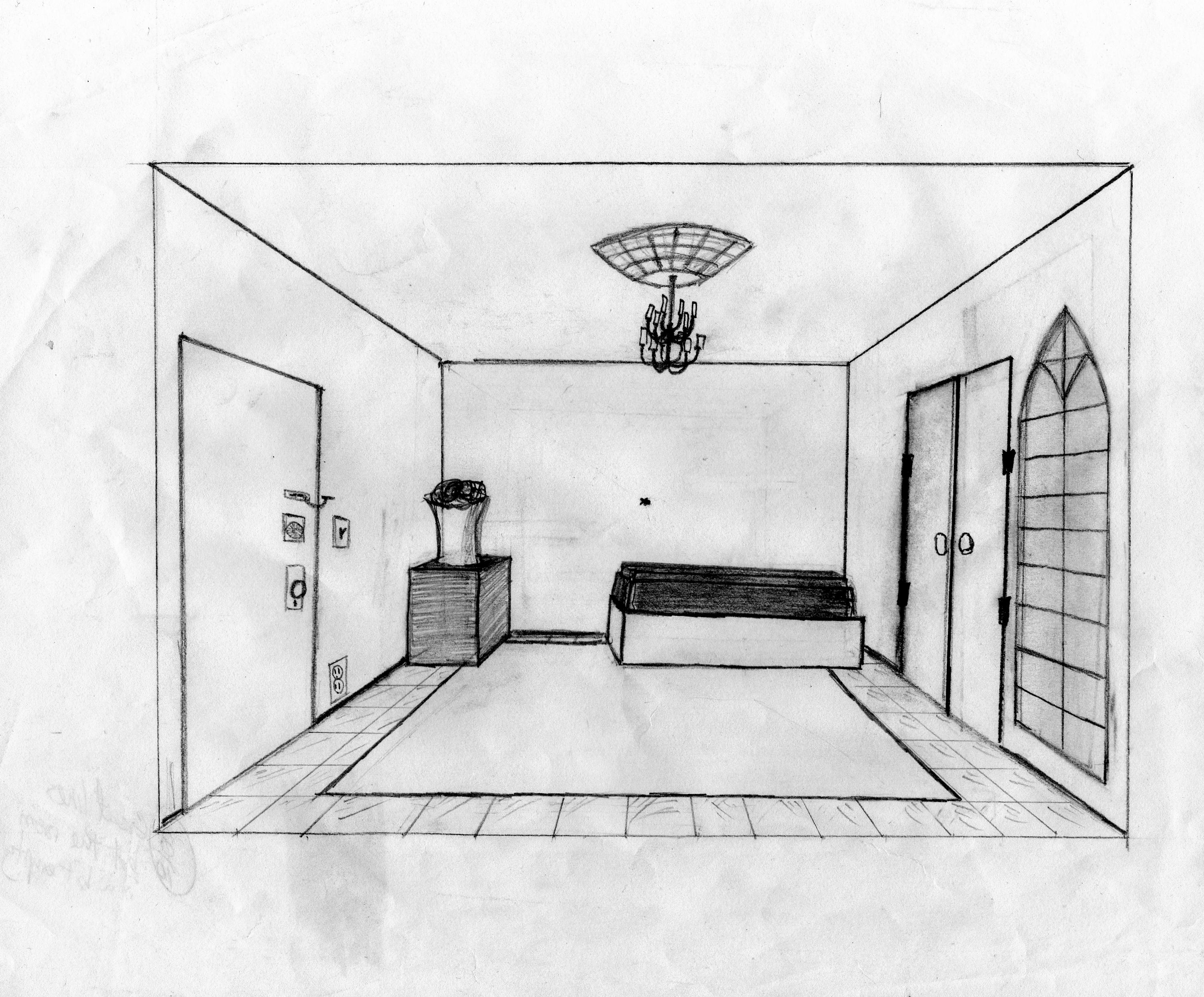 Perspective room by fat bob on deviantart for Living room 2 point perspective
