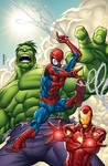 SpiderMan Hulk IronMan