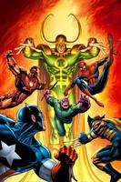 Avengers Vs Loki by GURU-eFX