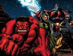 Red Hulk and pals