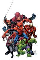 Marvel Superheroes by GURU-eFX