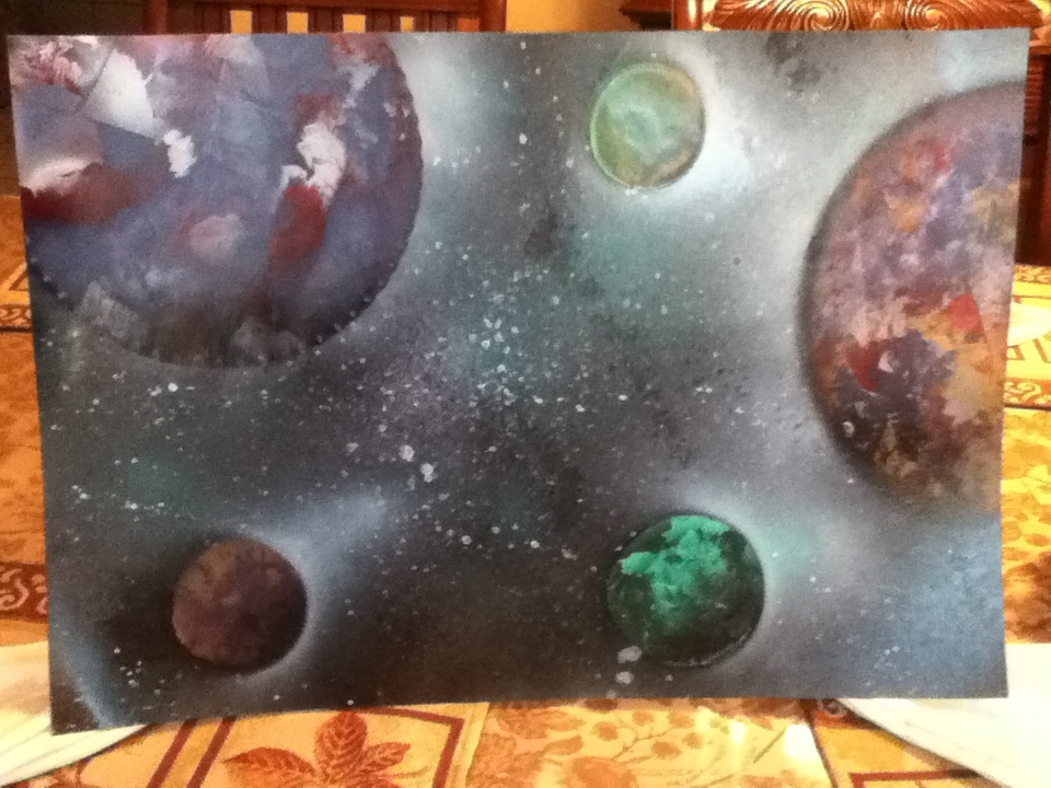 Spray Painting Of Space By Randlesr39 On Deviantart