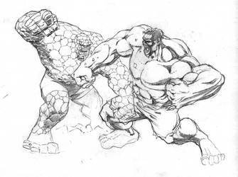 Thing v Hulk