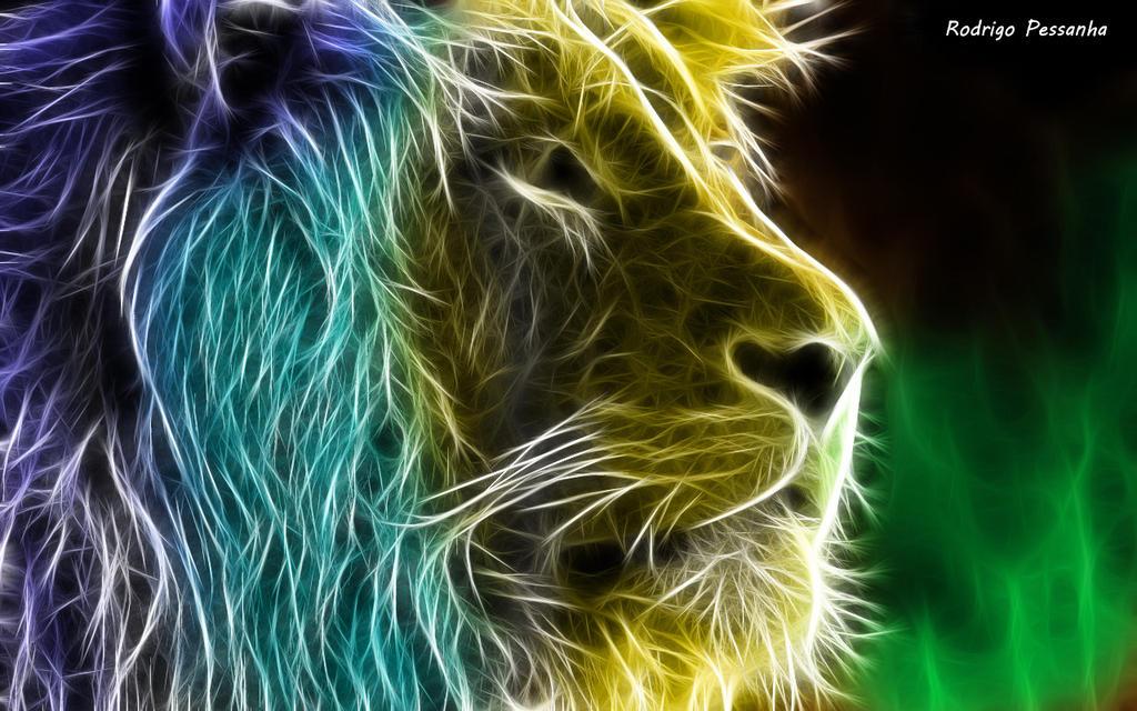Fractalius:Lion by rodrigopessanha