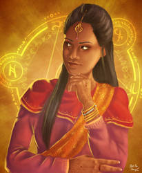 Indian mage by Kaislentheya