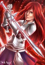 Erza Scarlet by Kaislentheya