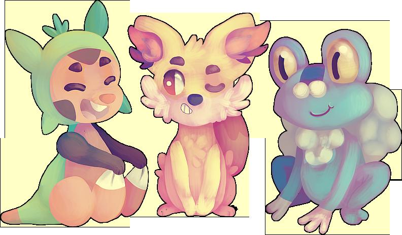 Pokemon X Y Starters by 3o2