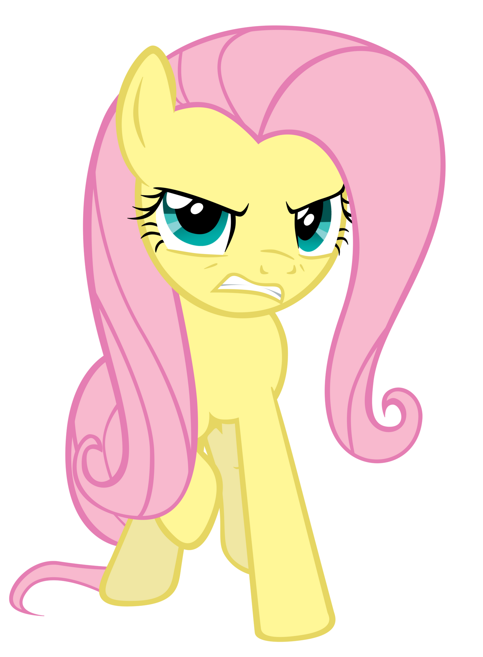 Fluttershy's Rage by ABadCookie on DeviantArt