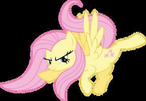 Fluttershy Reverse High Kick by ABadCookie