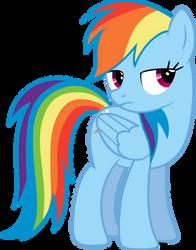 Rainbow Dash Side Glance by ABadCookie