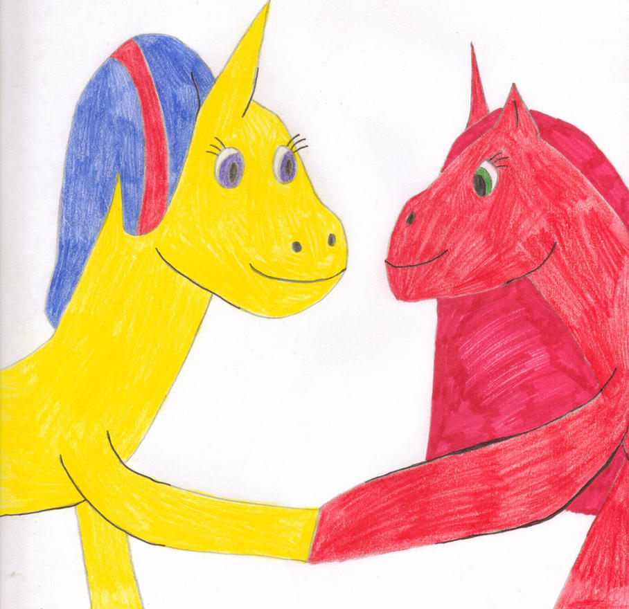 Ponies buddies by Tlsonic214