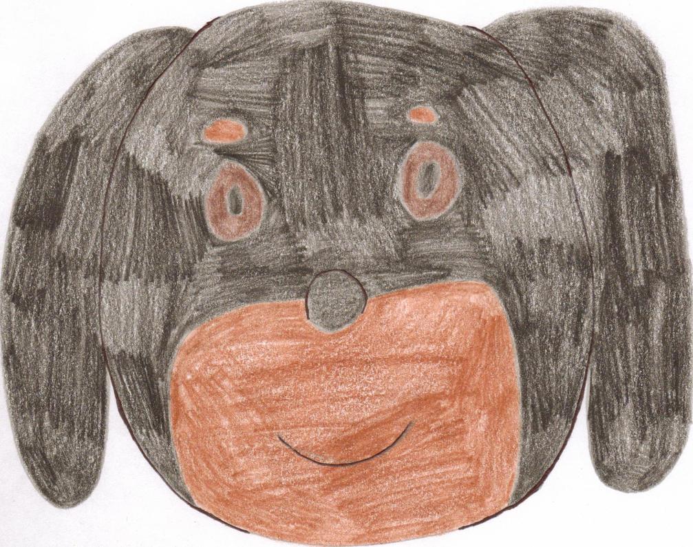 Dachshund dog head by Tlsonic214