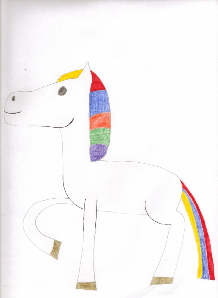 Arjay the rainbow horse by Tlsonic214