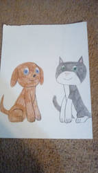 Littlest Pet Shop Dog and Cat. by Tlsonic214