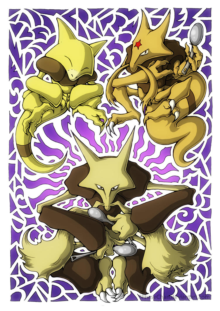 Abra! Kadabra! Alakazam! by PhaseChan on DeviantArt