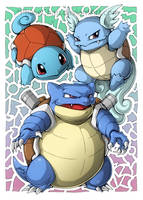 Squirtle! Wartortle! Blastoise! by PhaseChan