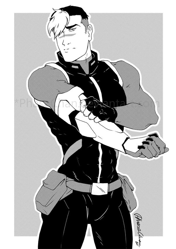 Shiro - Halftone by PhaseChan