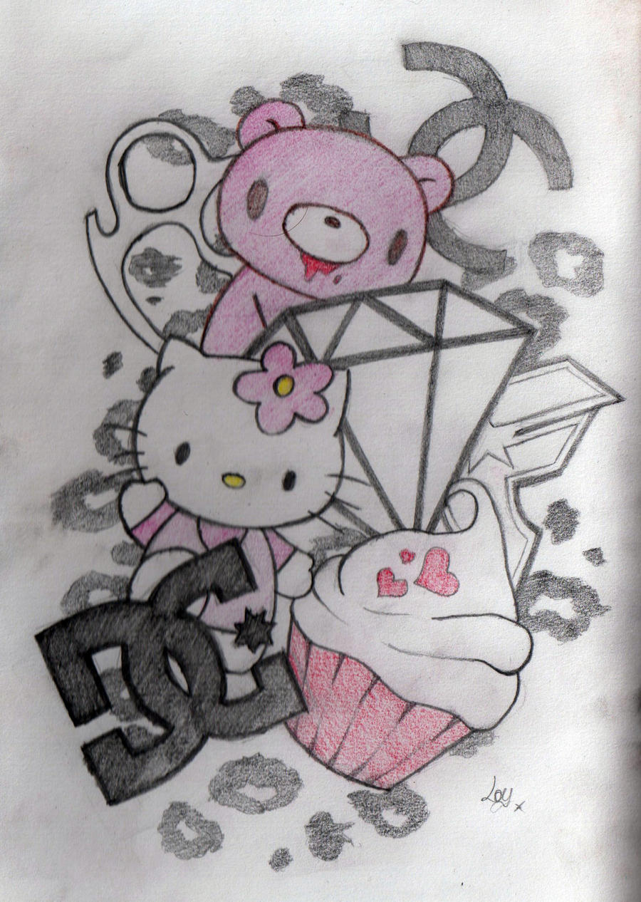 Top arm sleeve design scene by loulalethal on deviantart for Hello kitty tattoo sleeve