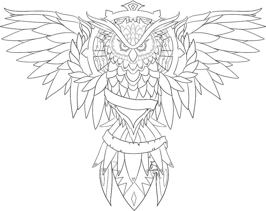 Tattoo Design Line Art : Owl by loulalethal on deviantart