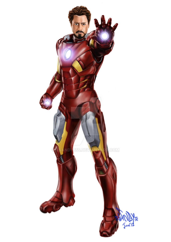 how to draw iron man full body standing