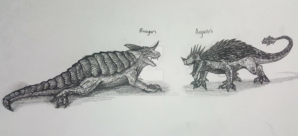 Anguirus Concept Art GMAC CHALLENGE ...