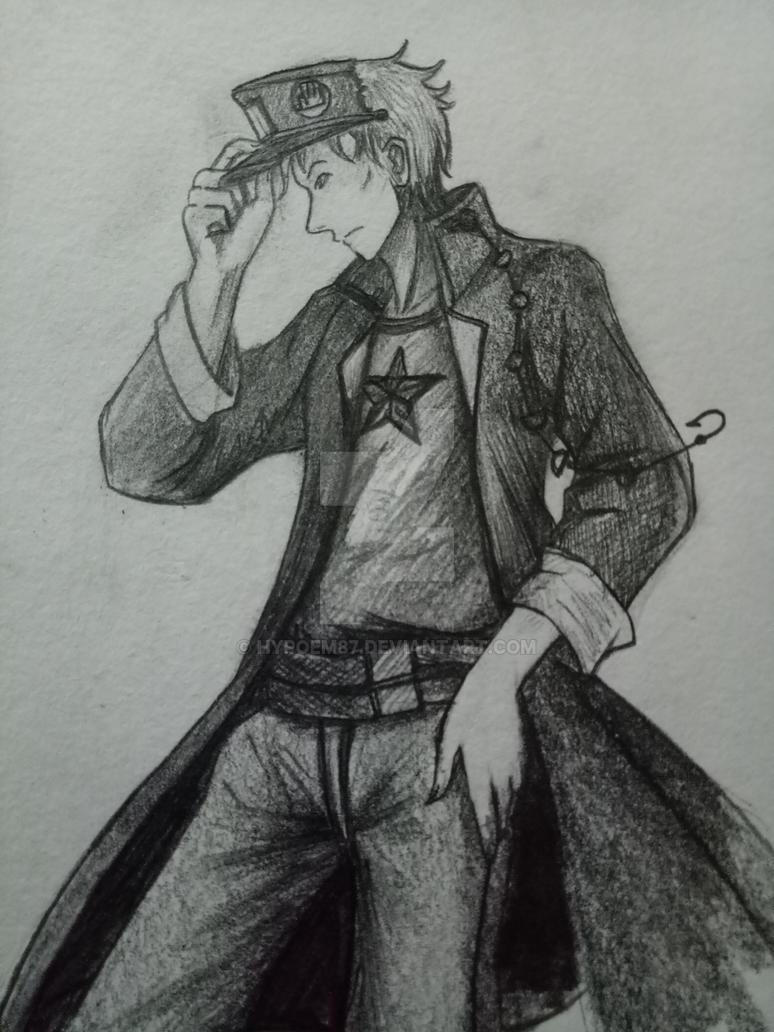 Random sketches 2 good grief boy jotaro kujo by hypoem87