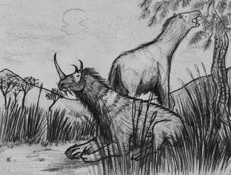 Hypoemtasia Bestiary - Acrobrachitherium by Hypoem87