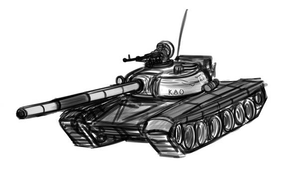 PROJECT 54 Vehicle Sketches - T-64/72