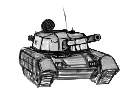 PROJECT 54 Vehicle Sketches -  Olifant MK2 MBT
