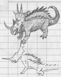 Random Sketches - Ceratopsian Kaiju