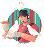 TF2| Scout feat. Medic's Doves by krisyasha