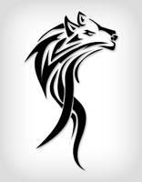 Wolf Tribals Black Version by HaskDitex