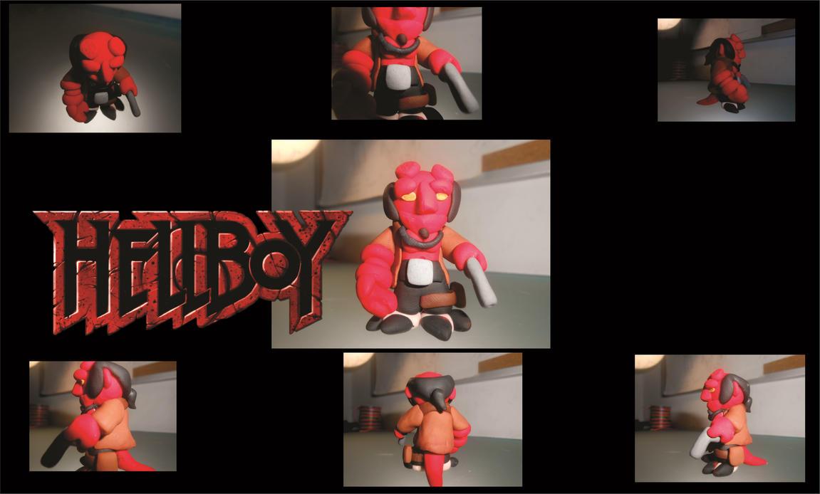 Hellboy enano Sculpey by kinikone-gamer